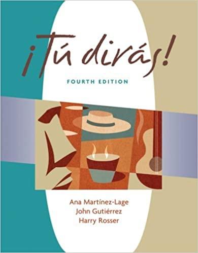 ¡Tú Dirás! 4th Edition - Front Cover